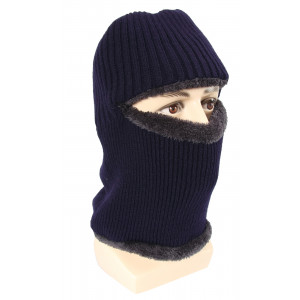 Hole Beanie with Neck Warmer