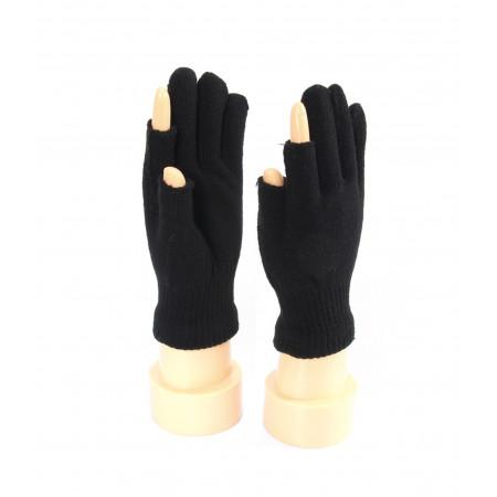 2 Fingerless Black Winter Gloves