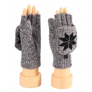 Ladies Gloves, Finger Less, Flip Over Cover