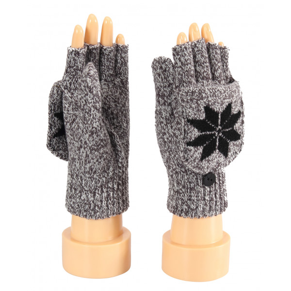 Ladies Gloves, Finger Less, Flip Over Cover